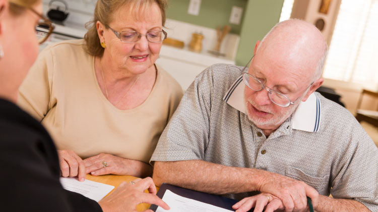 Mortgage Advice Services adviser providing estate planning and will writing service to a couple.
