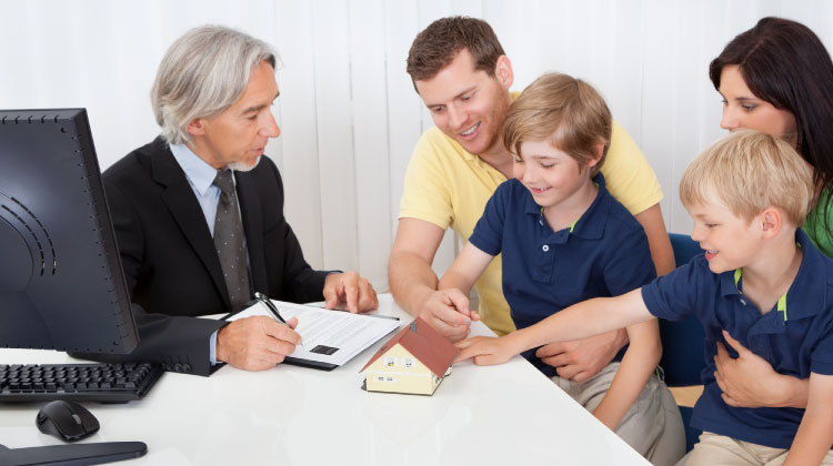 An advisor providing family and estate planning services a family.